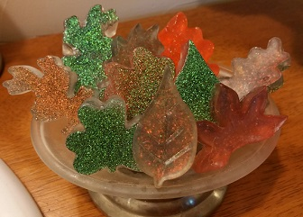 Fall Leaves Glitter Soap (glitter soap #2)