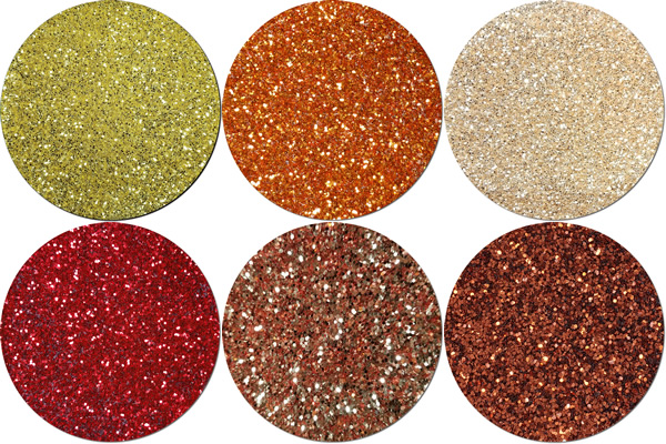 Let It Fall Craft Glitter Assortment (6 colors/sizes)