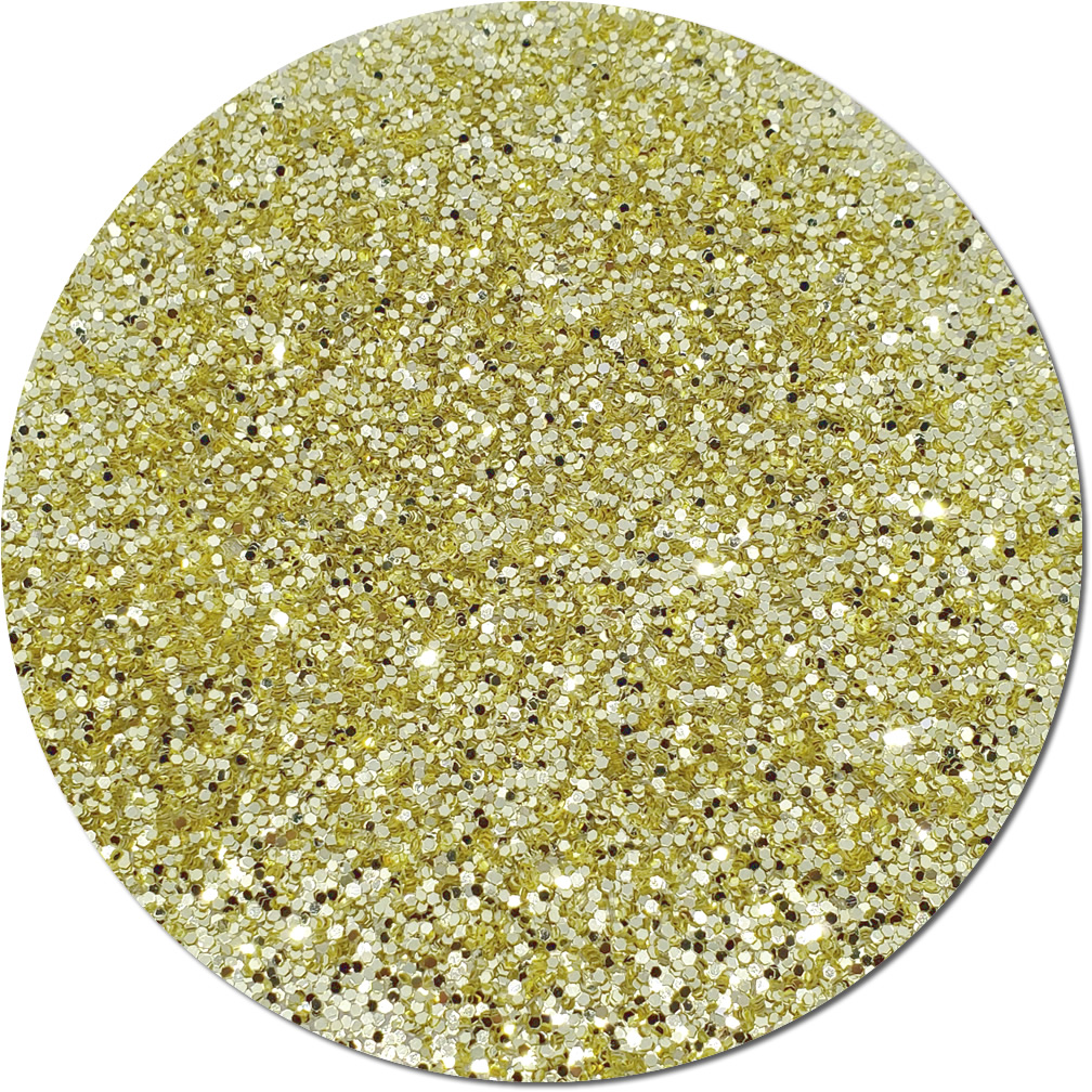 Light Gold Craft Glitter (chunky flake)- 3/4 oz Jar