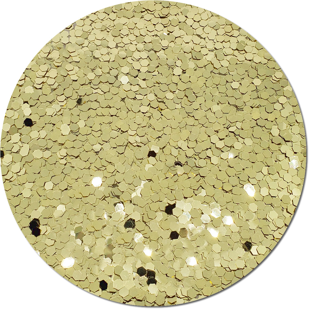 Light Gold Craft Glitter (colossal flake)- 3/4 oz Jar