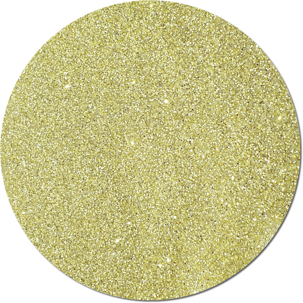 Light Gold Craft Glitter (fine flake)- 3/4 oz Jar