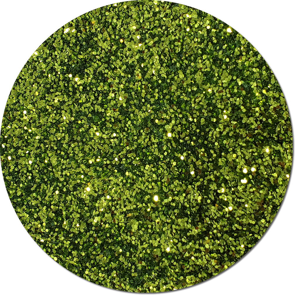 Lime Luster Craft Glitter (chunky flake)- 3/4 oz Jar