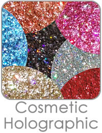 Cosmetic Holographic Glitters