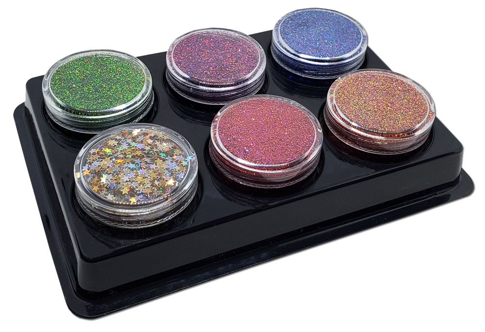 Look Up At The Stars Holographic (6 colors) :Mia Familia Glitter Assortment