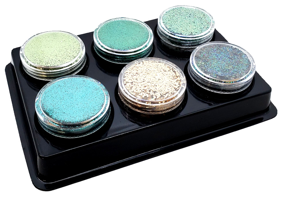 Lucky Girl (6 colors for skin) :COSMETIC Mia Familia Glitter Asst