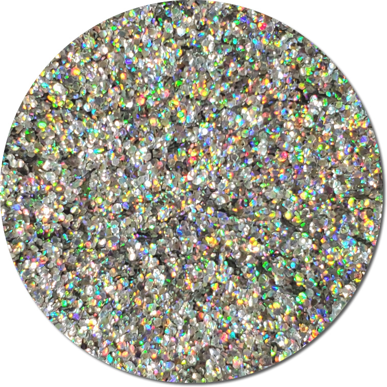 Magic Mirror :Chunky Biodegradable Silver Holographic Glitter (jar)