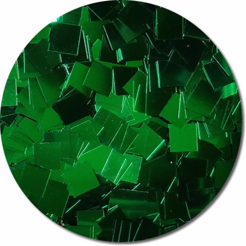 Oz's Emerald City Craft Glitter (Mammoth Squares)- 4 oz. Jar