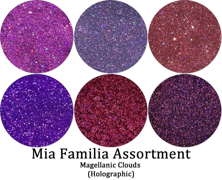 Magellanic Clouds (6 colors):Mia Familia Glitter Assortment