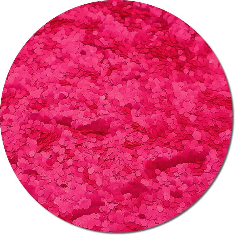 Nova Pink :Fat Glitter Fluorescent (Mini)