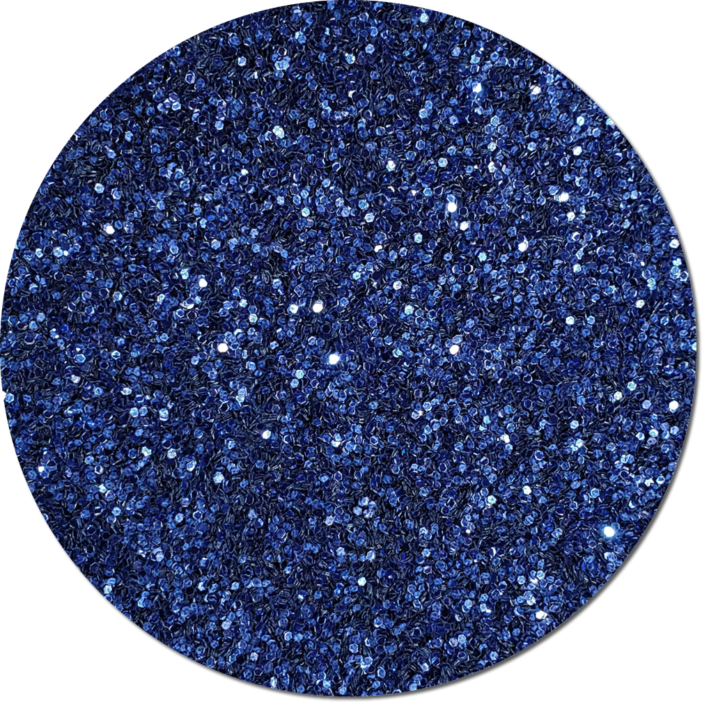 Persian Sapphire Blue Craft Glitter (Fat flake)- 3/4 oz Jar