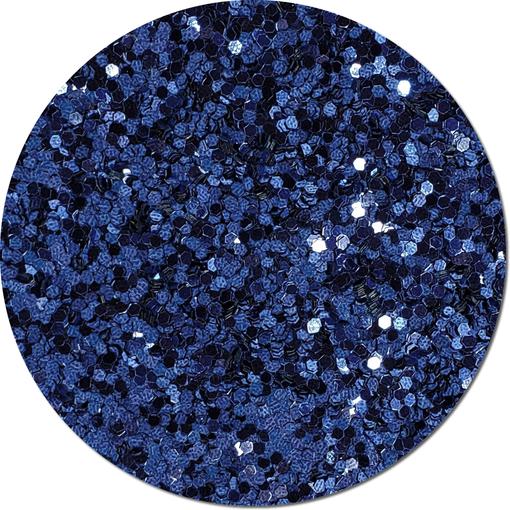 Persian Sapphire Blue Craft Glitter (Jumbo flake)- 8 oz. Jar