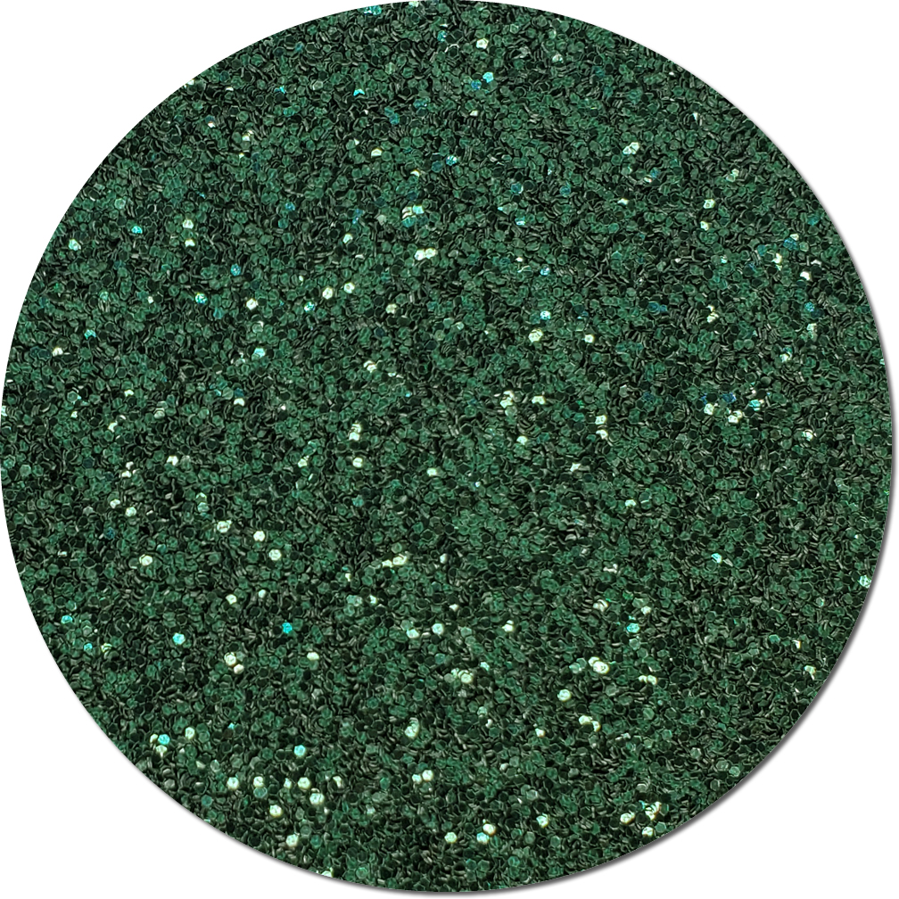 Pine Needle Green Craft Glitter (chunky flake)- 3/4 oz Jar