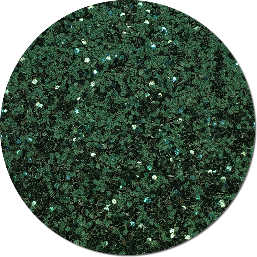 Pine Needle Green Craft Glitter (fat flake)- 8oz. Jar