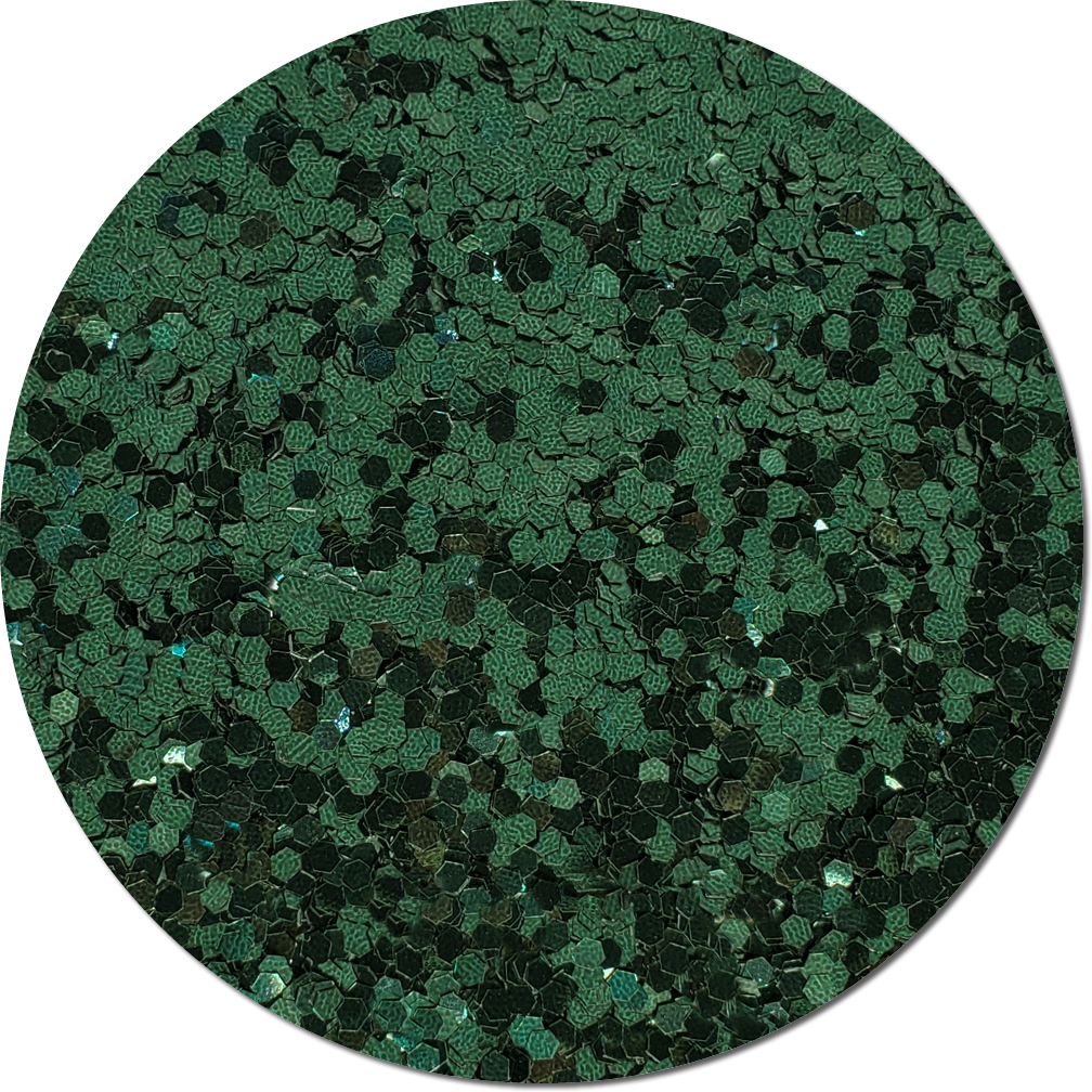 Pine Needle Green Craft Glitter (jumbo flake)- 8oz. Jar