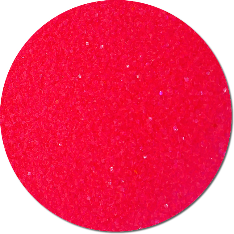 Fluorescent Poppin' Pink Craft Glitter (chunky flake)- 4 oz. Jar