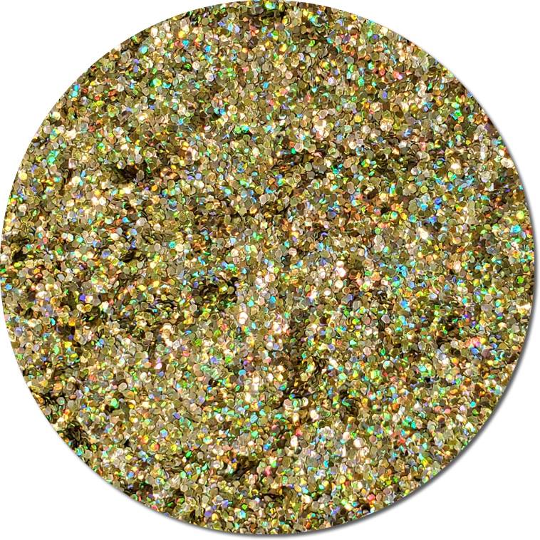 Prophecy Gold :Chunky Biodegradable Holographic Glitter (jar)