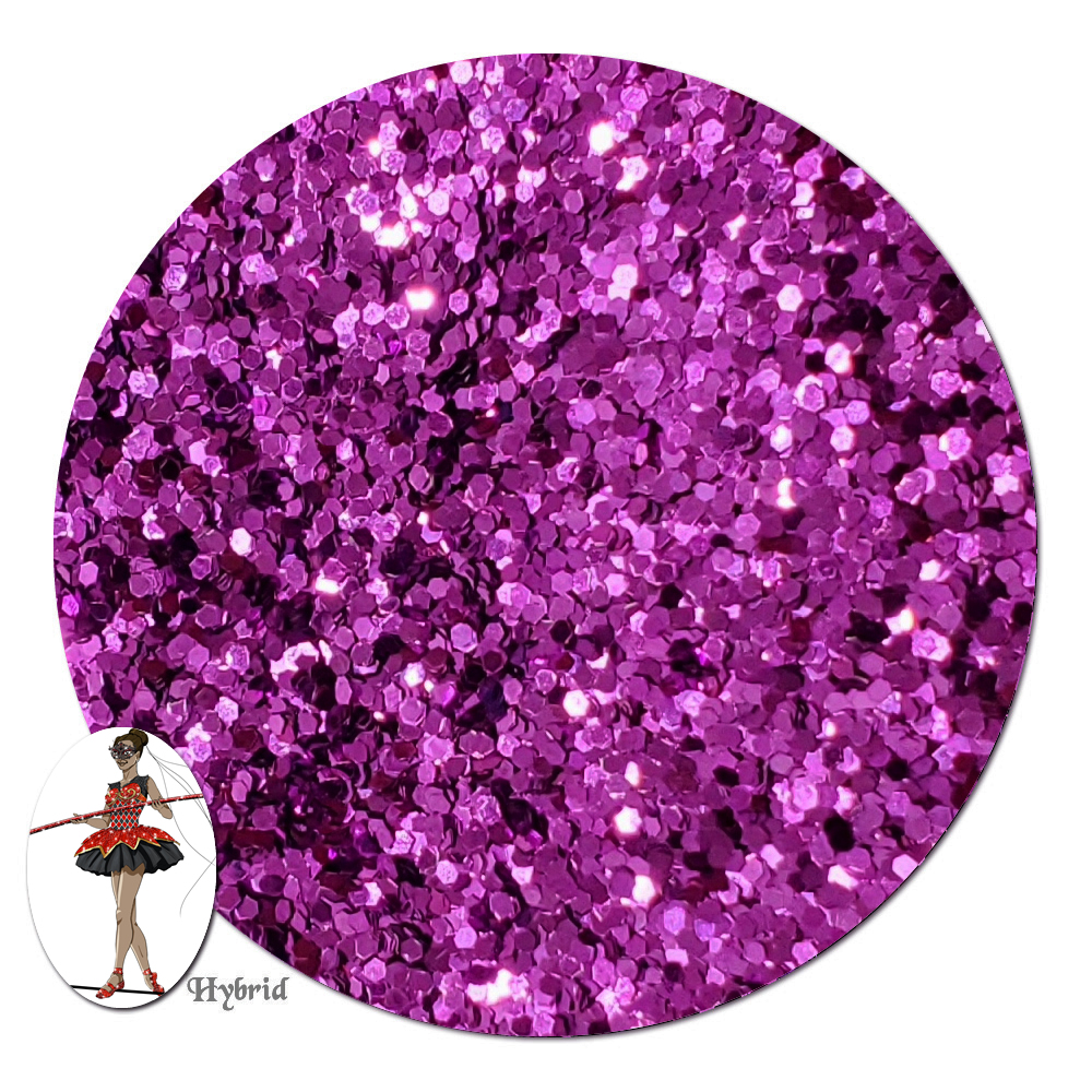 Purple Heart Metallic Hybrid Glitter (chunky)- 3/4 oz Jar