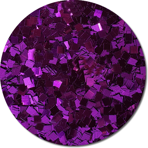 Purple Perfection Craft Glitter (Colossal Squares)- 8 oz. Jar