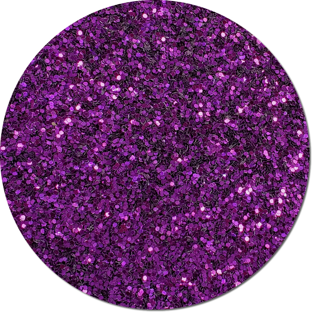 Purple Perfection Craft Glitter (chunky flake)- 4 oz. Jar