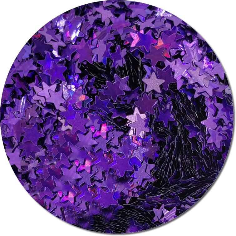Purple Star :Holographic Polyester Shaped Glitter (Mini)