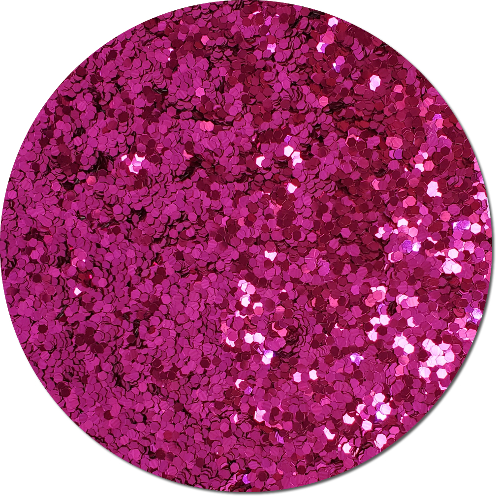 Rose Sparkler Craft Glitter (fat flake)- 8oz. Jar