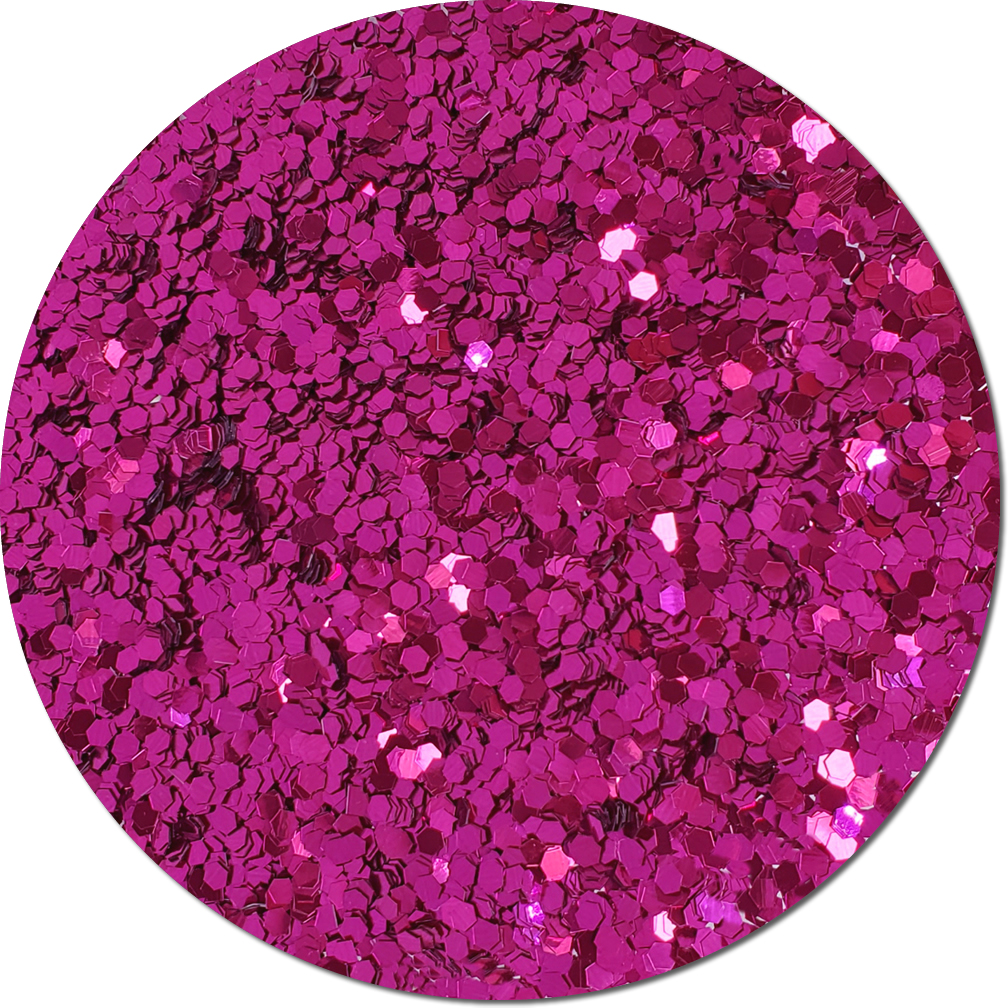 Rose Sparkler Craft Glitter (jumbo flake)- 3/4 oz Jar
