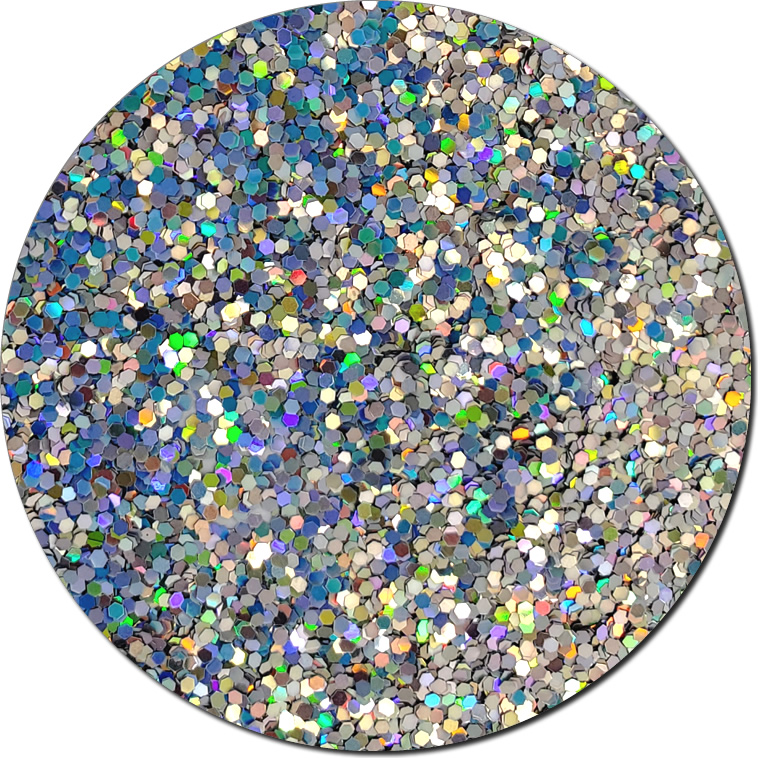 Star Struck Silver :Chunky Cosmetic Glitter Holographic (Mini)
