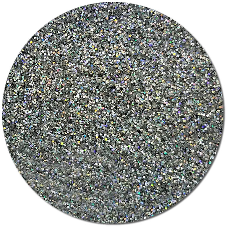 Magic Mirror :Ultra Fine Biodegradable Silver Holographic Glitter (jar)