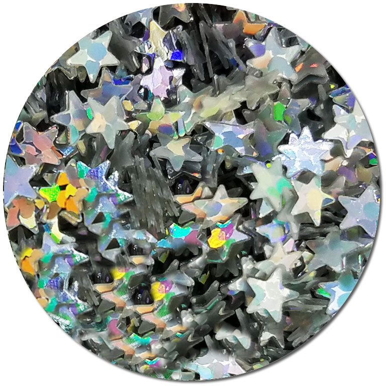 Holographic Wishing Stars :Shaped Biodegradable Glitter (jar)