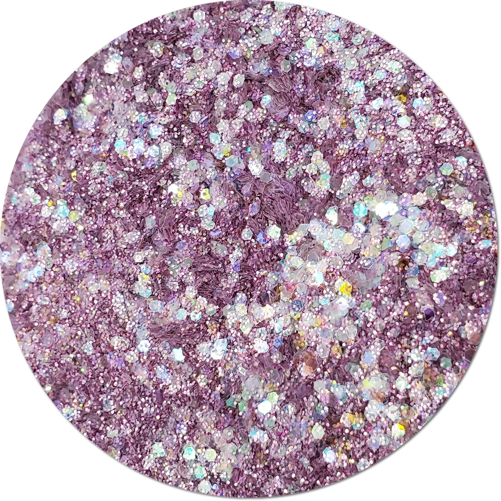 Luscious Lilac : Twisted Glitter Cosmetic Mix
