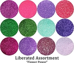 Flower Power (12 colors):Liberated Glitter Assortment