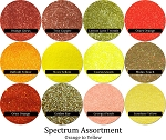 Orange-Yellows (12 colors) :Spectrum Glitter Mix