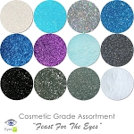 Feast For The Eyes (12 colors for eyes) :COSMETIC Liberated Glitter Assortment