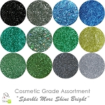 New Sparkle More Shine Bright (12 colors for skin) :COSMETIC Liberated Glitter Assortment