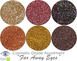 NEW Far Away Eyes (6 colors for eyes) :COSMETIC Mia Familia Glitter Asst