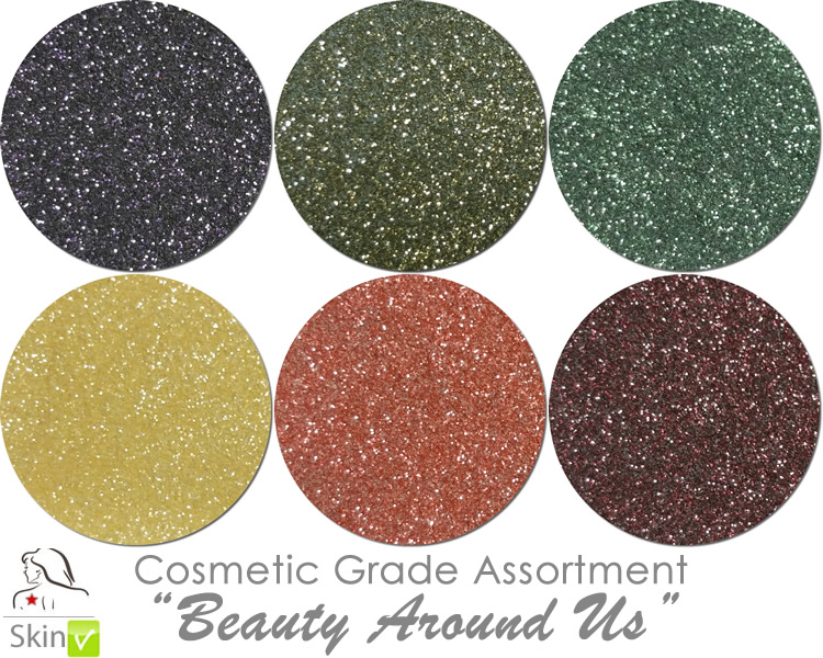 Beauty Around Us (6 colors for skin) :COSMETIC Mia Familia Glitter Asst