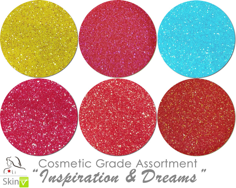 Inspiration & Dreams (6 colors for skin) :COSMETIC Mia Familia Glitter Asst