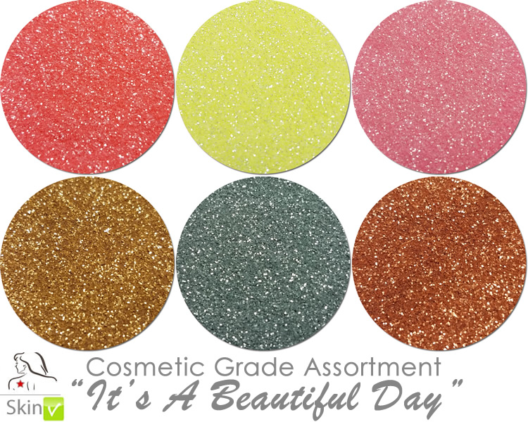 It's A Beautiful Day (6 colors for skin) :COSMETIC Mia Familia Glitter Asst