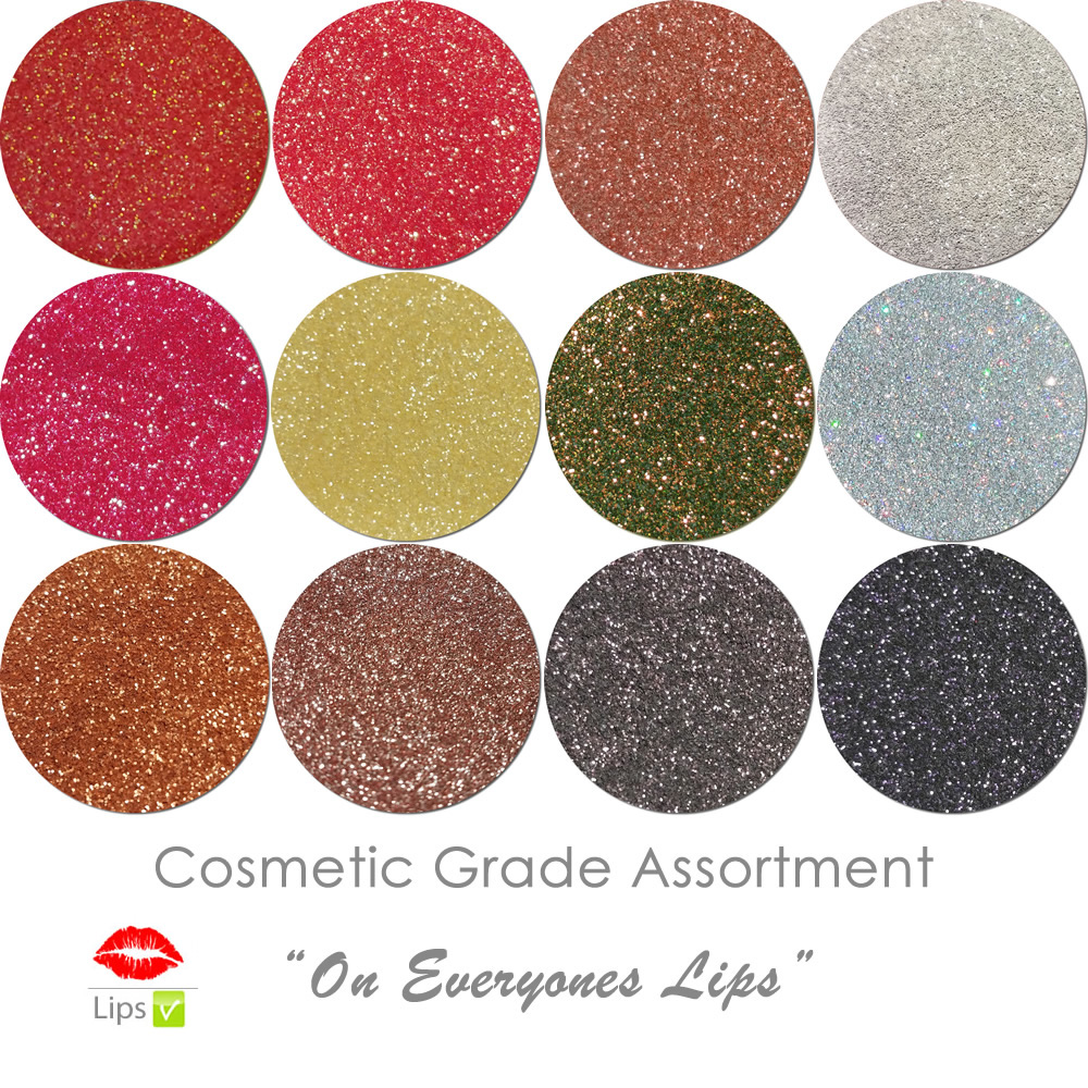 On Everyone's Lips (12 colors for lips) :COSMETIC Liberated Glitter Assortment