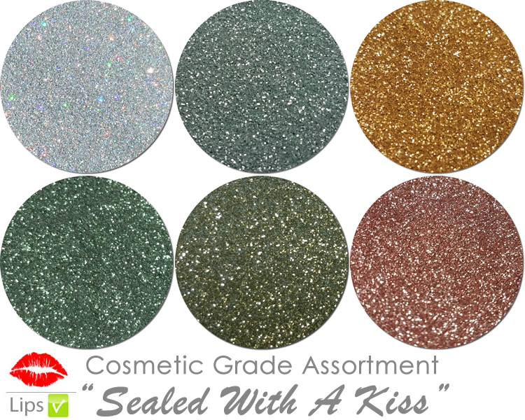 Sealed with A Kiss (6 colors for lips) :COSMETIC Mia Familia Glitter Asst