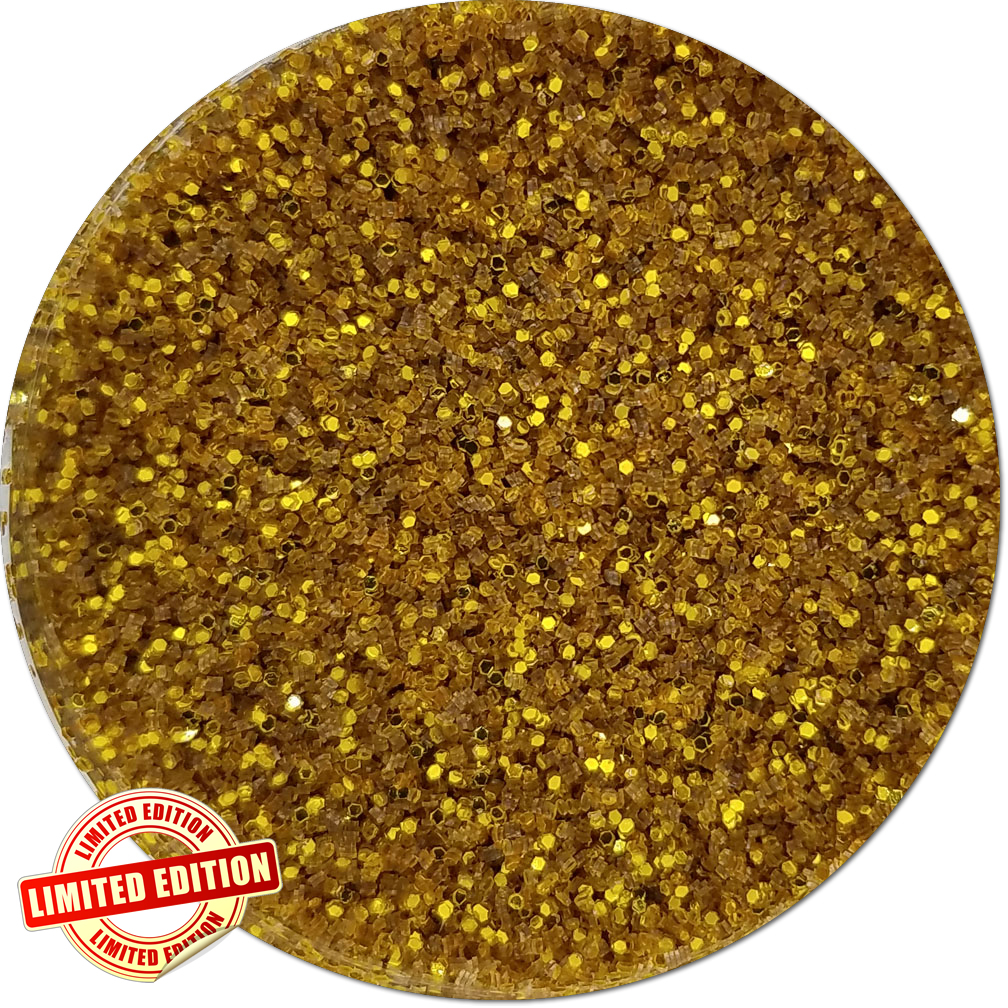 Apollo's Gold Craft Glitter (fine flake)- 3/4 oz Jar