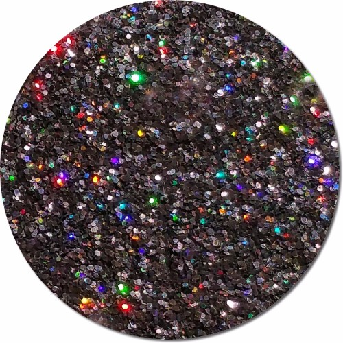 Back In Black :Fine Glitter Cosmetic Holographic (jar)