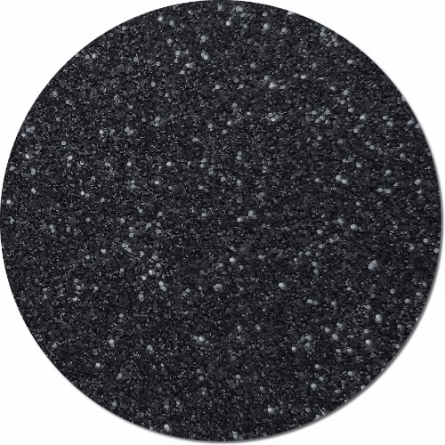 Black Glimmer Craft Glitter (fine flake)- 3/4 oz Jar
