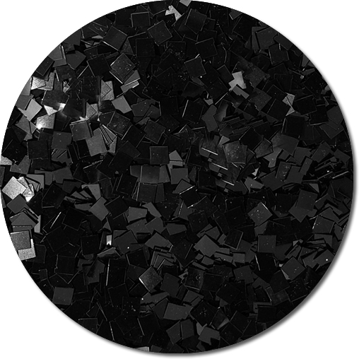 Black Shadow Craft Glitter (Colossal Squares)- 3/4 oz Jar