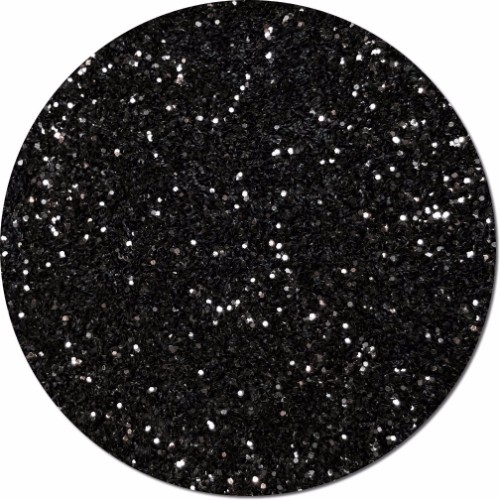 Black Glimmer Craft Glitter (chunky flake)- 3/4 oz Jar