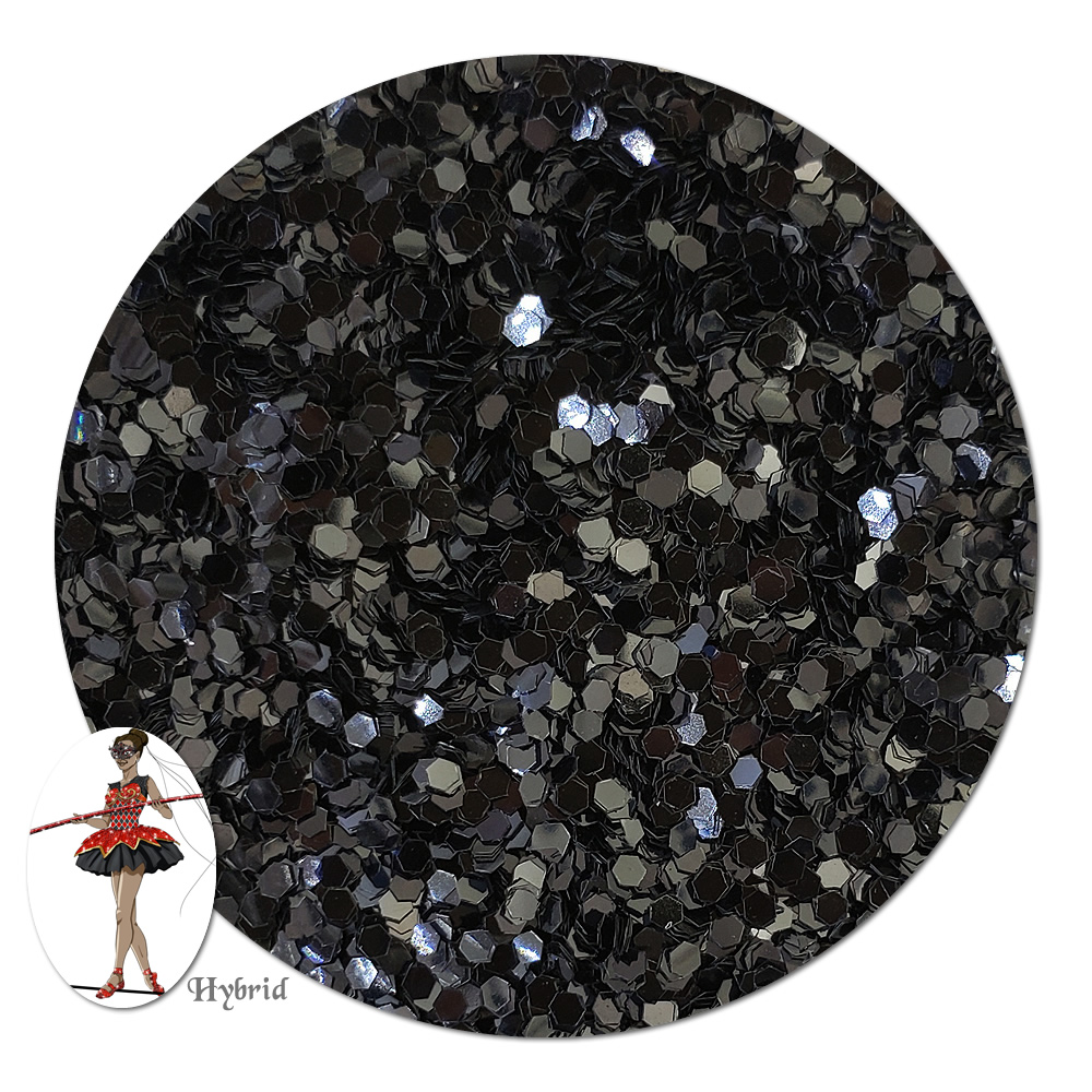Blackout Metallic Hybrid Glitter (chunky)- 3/4 oz Jar