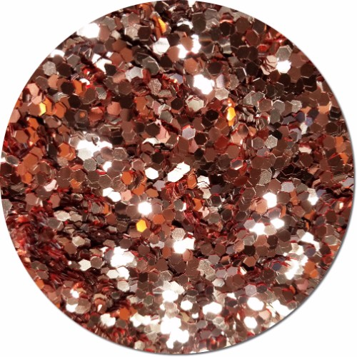 A Rose Gold Craft Glitter (colossal flake)- 3/4 oz Jar