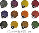 Carnivale (12 colors) :Cosmetic Iridescent Glitter Assortment
