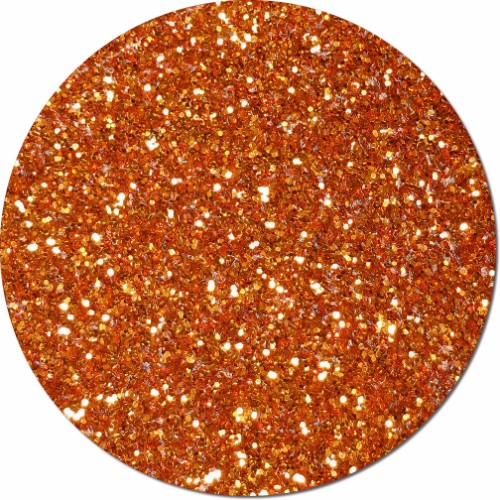 Carrot Orange Craft Glitter (chunky flake)- 25lb Boxed
