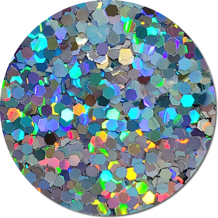 Centauri Silver :Colossal Glitter Holographic (jar)